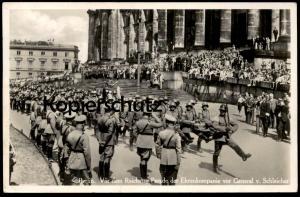 ALTE POSTKARTE BERLIN EHRENKOMPANIE GENERAL VON SCHLEICHER Parade military music Musikkapelle uniform postcard Kompanie