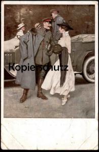 ALTE KÜNSTLER POSTKARTE AM FLUGPLATZ SIGN. B. WENNERBERG Luftstreitkräfte 1. Weltkrieg postcard cpa Feldpost AK