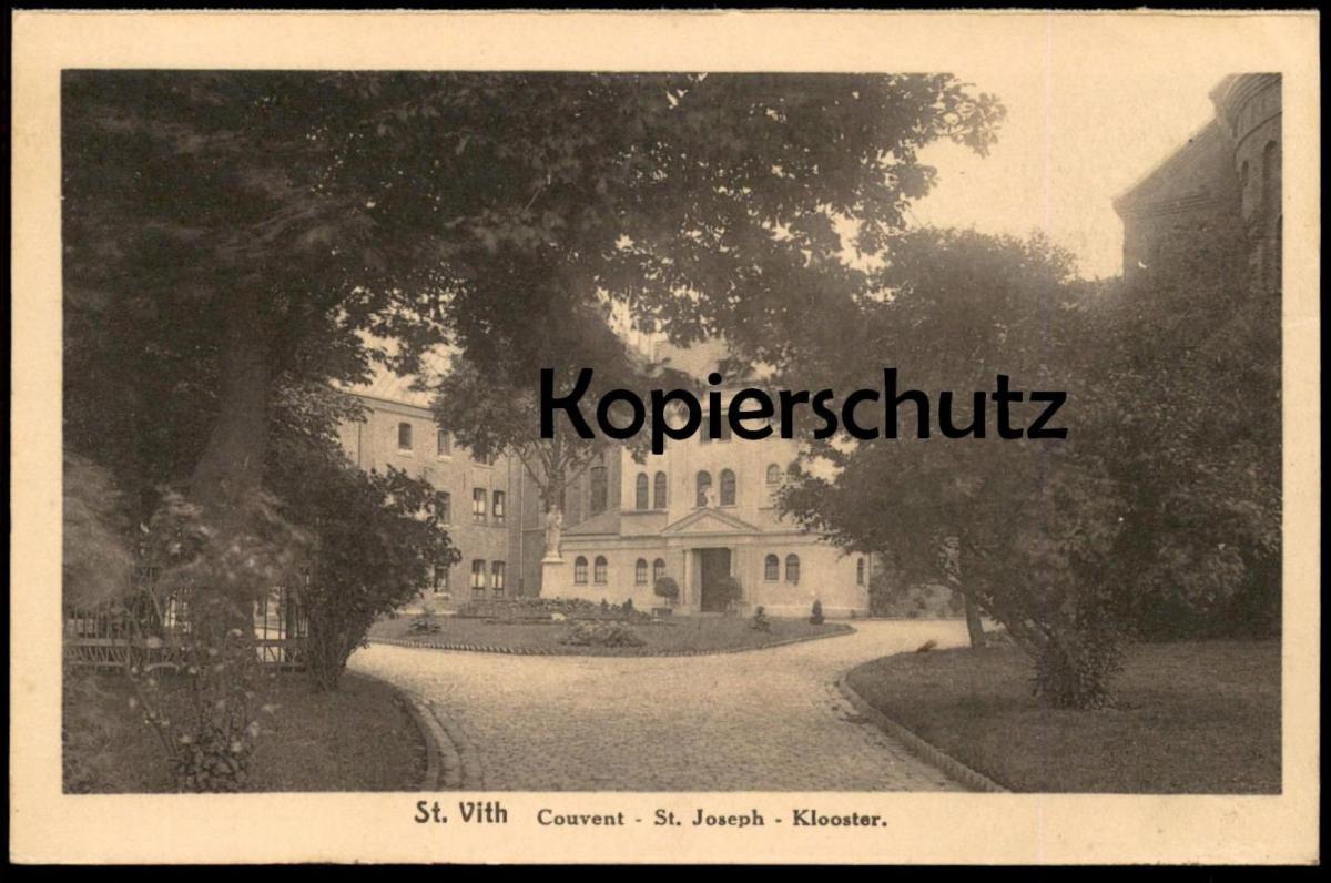 ALTE POSTKARTE SANKT VITH SAINT VITH Couvent St. Joseph Klooster Kloster postcard cpa Ansichtskarte AK