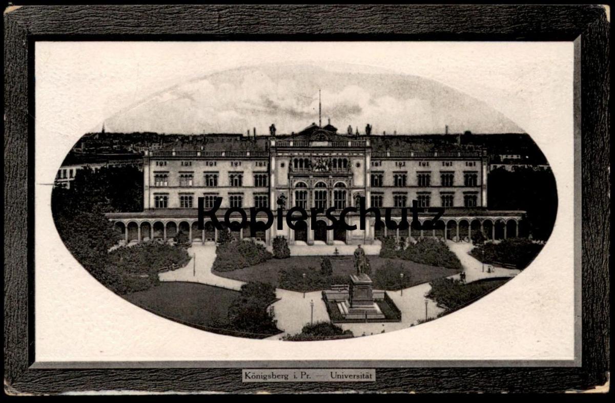 ALTE PASSEPARTOUT POSTKARTE KÖNIGSBERG UNIVERSITÄT university Kaliningrad Ostpreussen Ansichtskarte AK postcard cpa