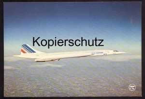 POSTKARTE CONCORDE AVION SUPER-SONIQUE AIR FRANCE FLUGZEUG AIRLINE AIRPLANE Aircraft postcard cpa Ansichtskarte AK