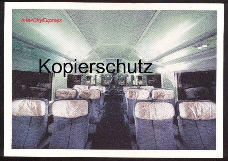 POSTKARTE DEUTSCHE BAHN ICE Intercity Express Train Zug Railway ...