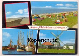 ÄLTERE POSTKARTE GRUSS AUS FRIEDRICHSKOOG Mühle Moulin Mill Windmill Windmühle Molen Windmolen Fischer Fischerei fishing