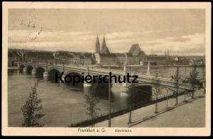 ALTE POSTKARTE FRANKFURT AN DER ODER 1914 ODERBRÜCKE Straßenbahn Tram Tramway Ansichtskarte AK cpa postcard