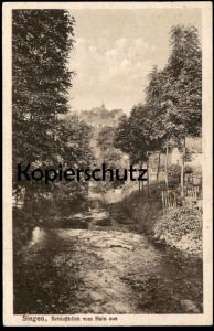 ALTE POSTKARTE SIEGEN SCHLOSSBLICK VOM HAIN AUS Schloss chateau castle Ansichtskarte cpa postcard AK
