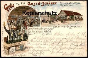 ALTE LITHO POSTKARTE LEIPZIG EUTRITZSCH 1896 GOSENSCHÄNKE Studentika Studentica Cosi fan tutte postcard Ansichtskarte