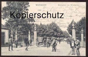 ALTE POSTKARTE WARENDORF MARKTPLATZ AM MÜNSTERTOR 1905 Markt Händler Kutschen marché market cpa postcard Ansichtskarte
