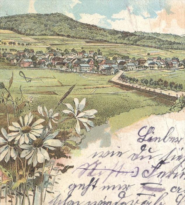 Alte Litho Postkarte Gruss Aus Nister Hachenburg Nister