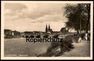 ALTE POSTKARTE FRANKFURT AN DER ODER FRAU & KIND 1939 ODERBRÜCKE Feldpost Cachet Ansichtskarte AK cpa postcard