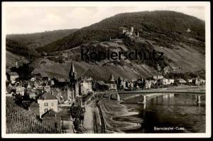 ALTE POSTKARTE BERNCASTEL-CUES GESAMTANSICHT MOSEL BERNKASTEL-KUES Eisenbahn Ansichtskarte AK cpa postcard