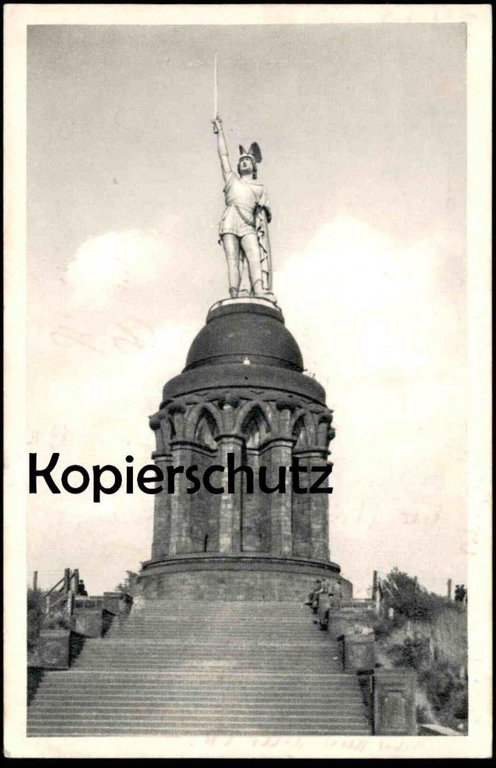 ALTE POSTKARTE HERMANNS-DENKMAL TEUTOBURGER WALD DETMOLD Stempel Grotenburg 05.06.1927 Hermanns-Denkmal Ansichtskarte AK