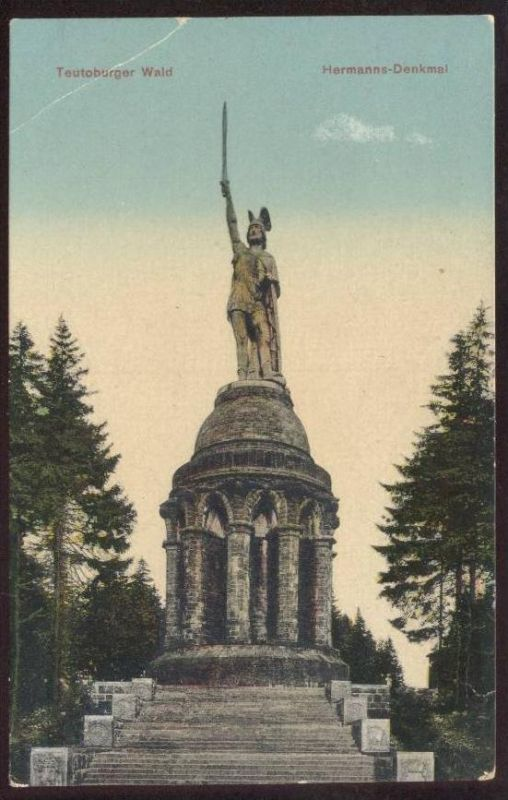 ALTE POSTKARTE HERMANNS-DENKMAL TEUTOBURGER WALD DETMOLD Stempel Grotenburg 05.06.1927 Hermannsdenkmal monument cpa AK