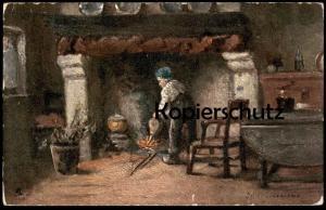 ALTE POSTKARTE OILETTE RAPHAEL TUCK Tucks Postcard Blasebalg Gonfleur Pair of bellows Kamin Card No.1530 cpa postcard AK