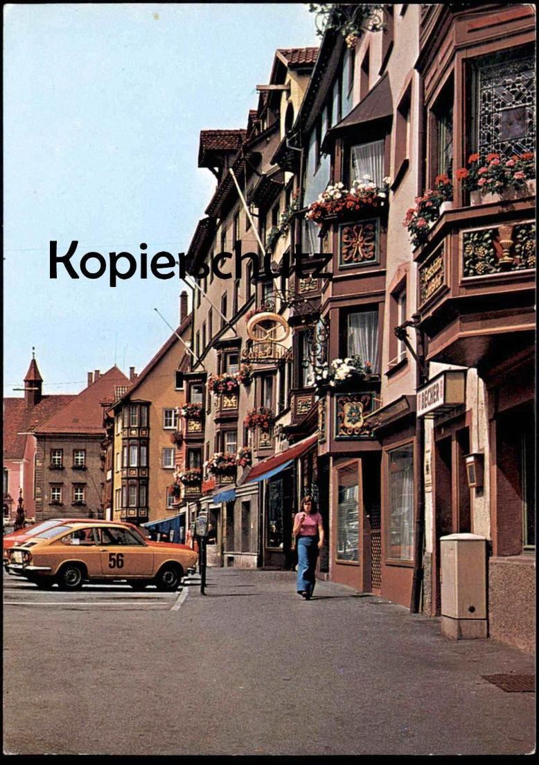 ÄLTERE POSTKARTE ROTTWEIL FIAT O. OPEL 56 BÄCKEREI BREZEL bakery boulangerie Auto Rennwagen bolide racing car postcard