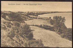 ALTE POSTKARTE BOCKHOLM STRAND AN DER FLENSBURGER FÖRDE BEI GLÜCKSBURG FLENSBURG Ansichtskarte AK cpa postcard