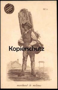ALTE POSTKARTE METIERS POTAGES MAGGI AROME MARCHAND DE MELONA No. 31 Carle Vernel Serie des Marchands No. 7 cpa postcard