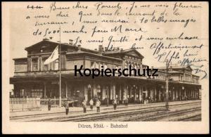 ALTE POSTKARTE DÜREN RHEINLAND BAHNHOF railway station gare cpa postcard AK Ansichtskarte