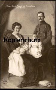 ALTE POSTKARTE HERZOG ERNST AUGUST VON BRAUNSCHWEIG NEBST FAMILIE Enfant Bébé Baby Royal Duke Duc Royals Royale cpa AK