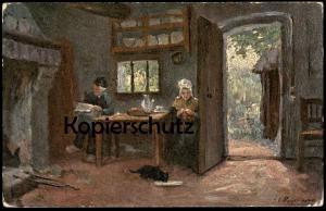 ALTE POSTKARTE OILETTE RAPHAEL TUCK & SONS Postcard 1530 flemish cottage Katze cat chat Ansichtskarte AK postcard cpa