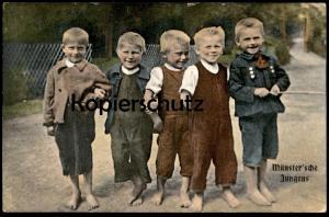 ALTE POSTKARTE MÜNSTER WESTFALEN Münster´sche Jungens enfants boys children jeux d´enfants cpa postcard Ansichtskarte