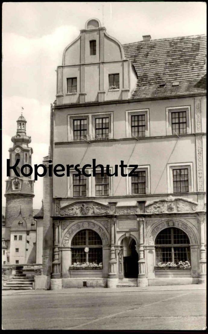 ÄLTERE POSTKARTE WEIMAR LUCAS CRANACH-HAUS UND SHLOSS Haus Lucas Cranach Maler Painter Ansichtskarte AK cpa postcard