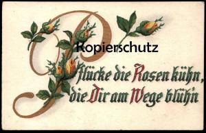 ALTE POSTKARTE ROSEN Blumen Blume Flower Fleur Flowers Rosen Rose Embossed Prägekarte Gaufree 1918 cpa gaufrée gauffrée