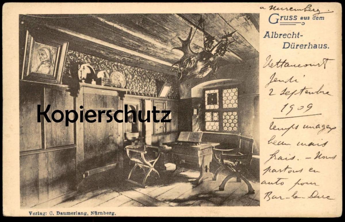 ALTE POSTKARTE GRUSS AUS DEM ALBRECHT-DÜRERHAUS NÜRNBERG Painter Maler Albrecht Dürer Duerer