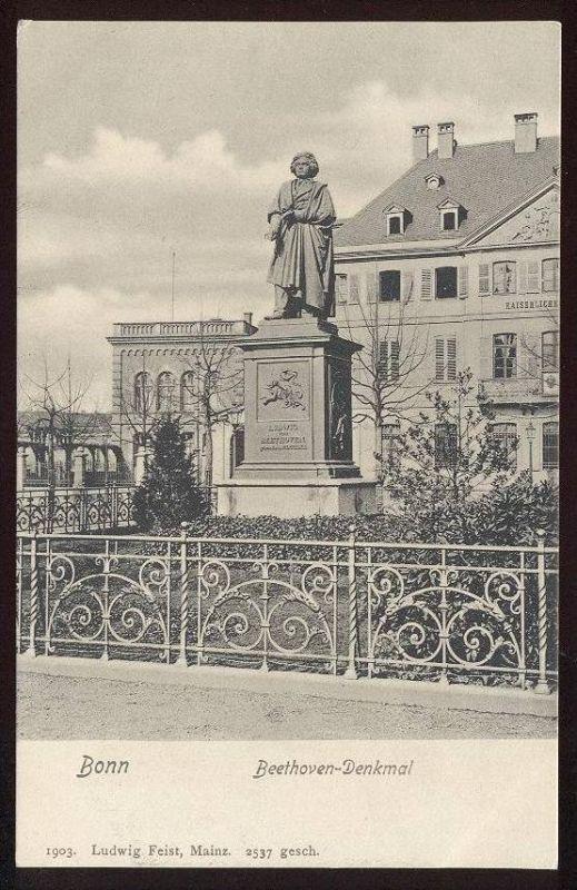 ALTE POSTKARTE BONN LUDWIG VAN BEETHOVEN DENKMAL Beethoven-Denkmal Monument Poet Musician Komponist Dichter Musiker cpa