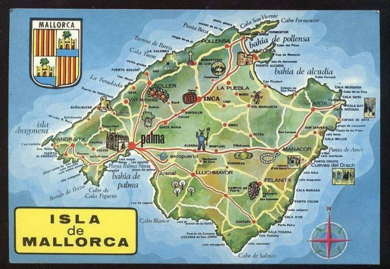 Mallorca Map Stock Vector Colourbox