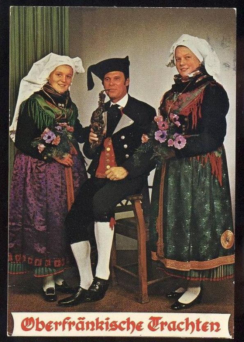 POSTKARTE TRACHT FRANKEN OBERFRÄNKISCHE TRACHTEN Traditional Costume Folklorique Style Oberfranken cpa AK Ansichtskarte