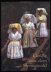 POSTKARTE GRÜSSE AUS DEM SPREEWALD TRACHT Trachten Costume Folklorique Traditional Style Brandenburg cpa postcard AK