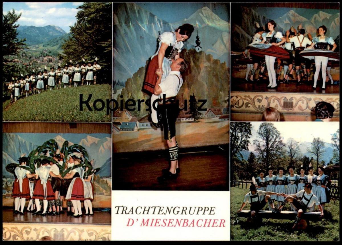 POSTKARTE RUHPOLDING TRACHTENGRUPPE D´Miesenbacher 1971 Tracht traditional costume folklorique postcard Ansichtskarte AK
