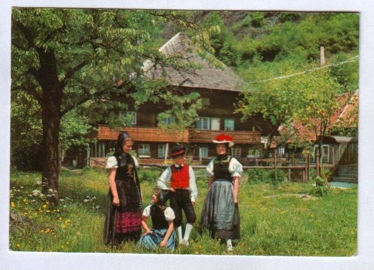 POSTKARTE VOLKSTRACHT SCHWARZWALD BLACK FOREST Tracht Foret-Noire Traditional Costume Folklorique Bauernhaus Bauernhof