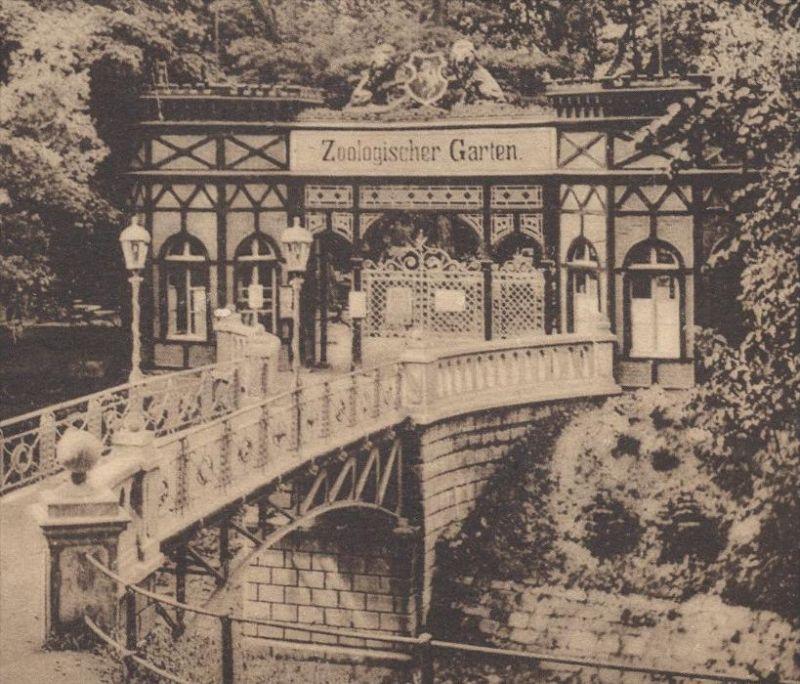 Garten Münster alte postkarte münster eingang zoologischer garten zoo tiergarten