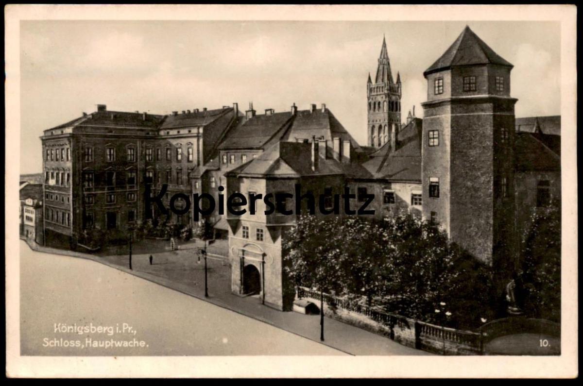 Königsberg Kaliningrad Karte.Alte Postkarte Königsberg Kaliningrad Krolewiec Ostpreussen Schloss Hauptwache Ansichtskarte Ak Postcard Cpa