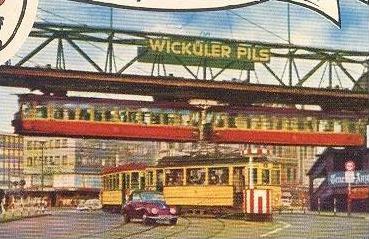 ltere postkarte wuppertal elberfeld schwebebahn zug train tramway wick ler pils bier beer bi re. Black Bedroom Furniture Sets. Home Design Ideas