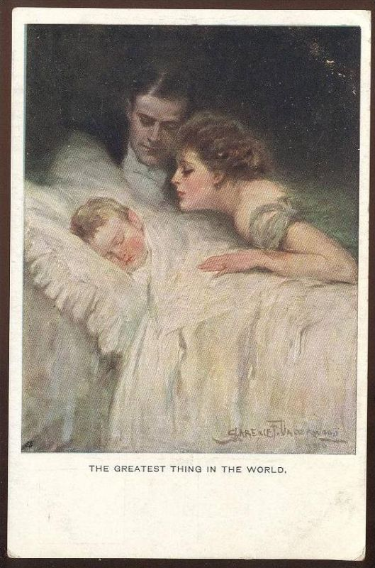 ALTE POSTKARTE CLARENCE F. UNDERWOOD THE GREATEST THING IN THE WORLD Enfant Bébé Baby M. M. Vienne M. Munk cpa postcard