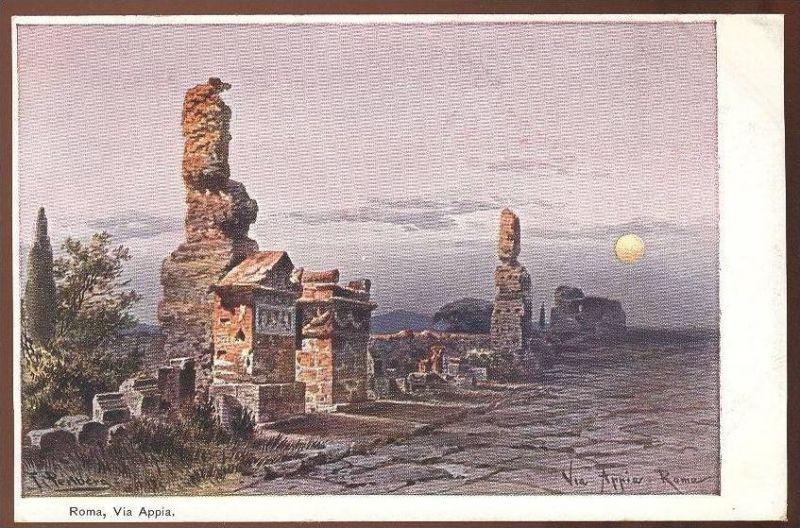 ALTE POSTKARTE FRIEDRICH PERLBERG ROM VIA APPIA Roma Rome Italien Italy Italia cpa postcard Ansichtskarte AK