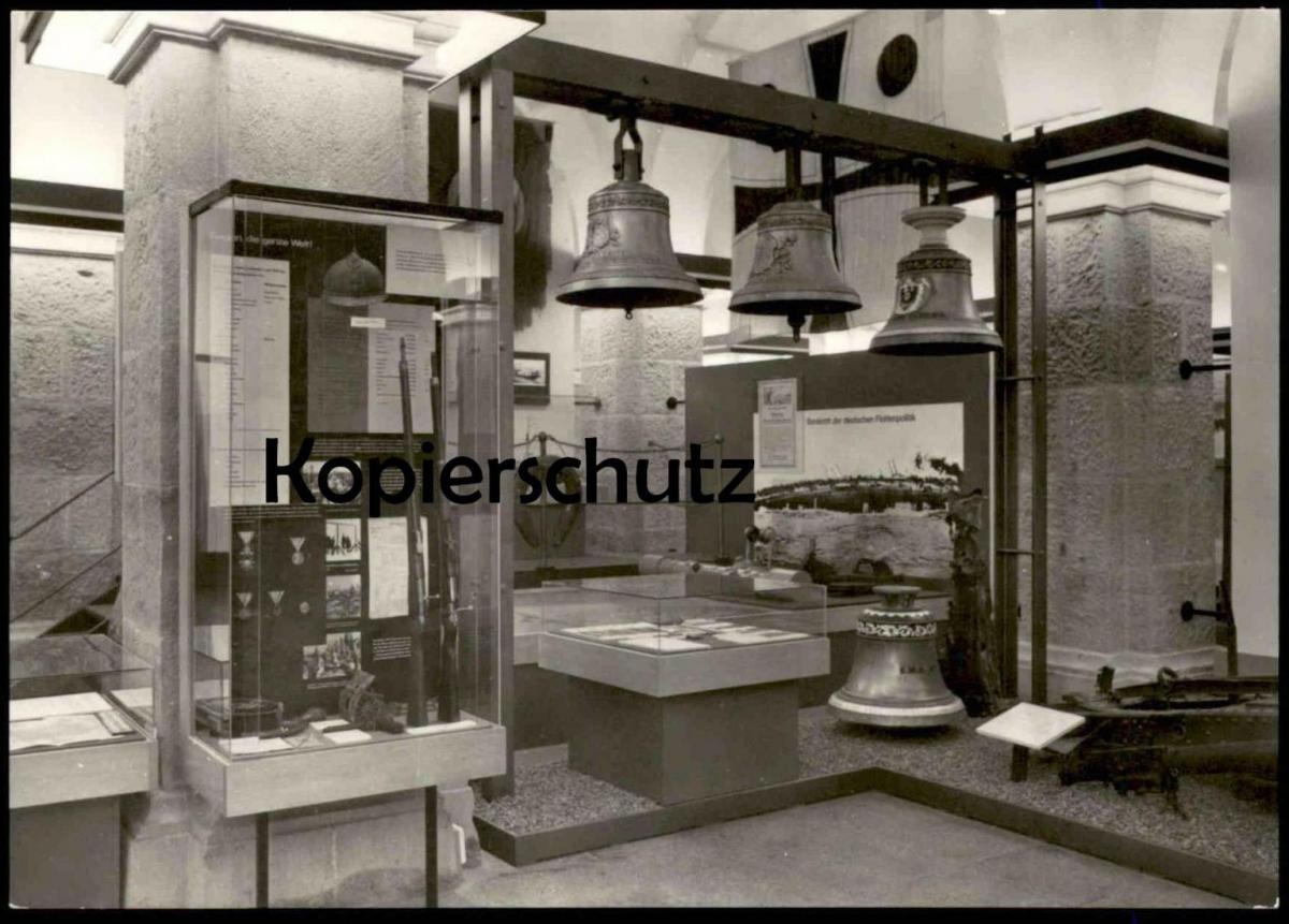 ÄLTERE POSTKARTE DRESDEN ARMEEMUSEUM DDR Glocke Glocken Bell Bells Clarine Cloche Armee-Museum 1. Weltkrieg WWI Guerre