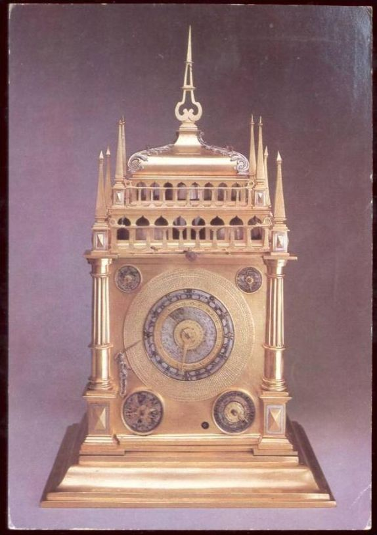 POSTKARTE DRESDEN ASTRONOMISCHE UHR GRÜNES GEWÖLBE Astronomy Clock Watch Horloge Chrono Astronomie Montre cpa postcard