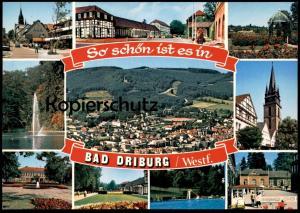 POSTKARTE SO SCHÖN IST ES IN BAD DRIBURG WESTFALEN EGGEGEBIRGE Freibad Piscine Swimming Pool cpa postcard Ansichtskarte