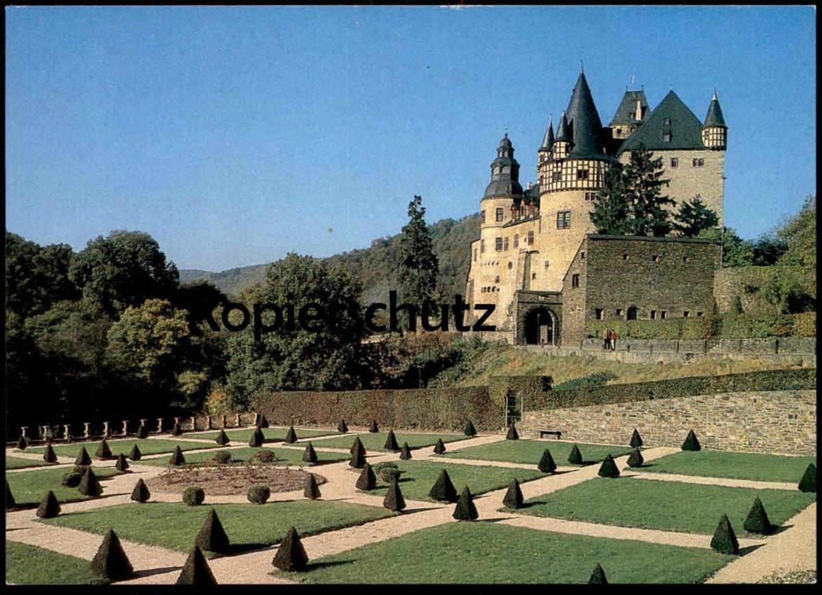 POSTKARTE MAYEN IN DER EIFEL SCHLOSS BÜRRESHEIM BUERRESHEIM Castle Chateau Garten garden Barock postcard Ansichtskarte