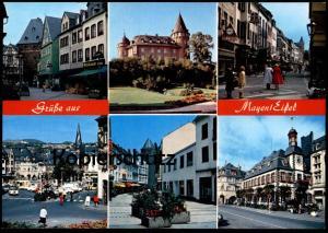 POSTKARTE MAYEN EIFEL GENOVEVABURG FUSSGÄNGERZONE Bayer Korb Bazar Franz Taxi Cab Caspari Zilliken cpa postcard AK