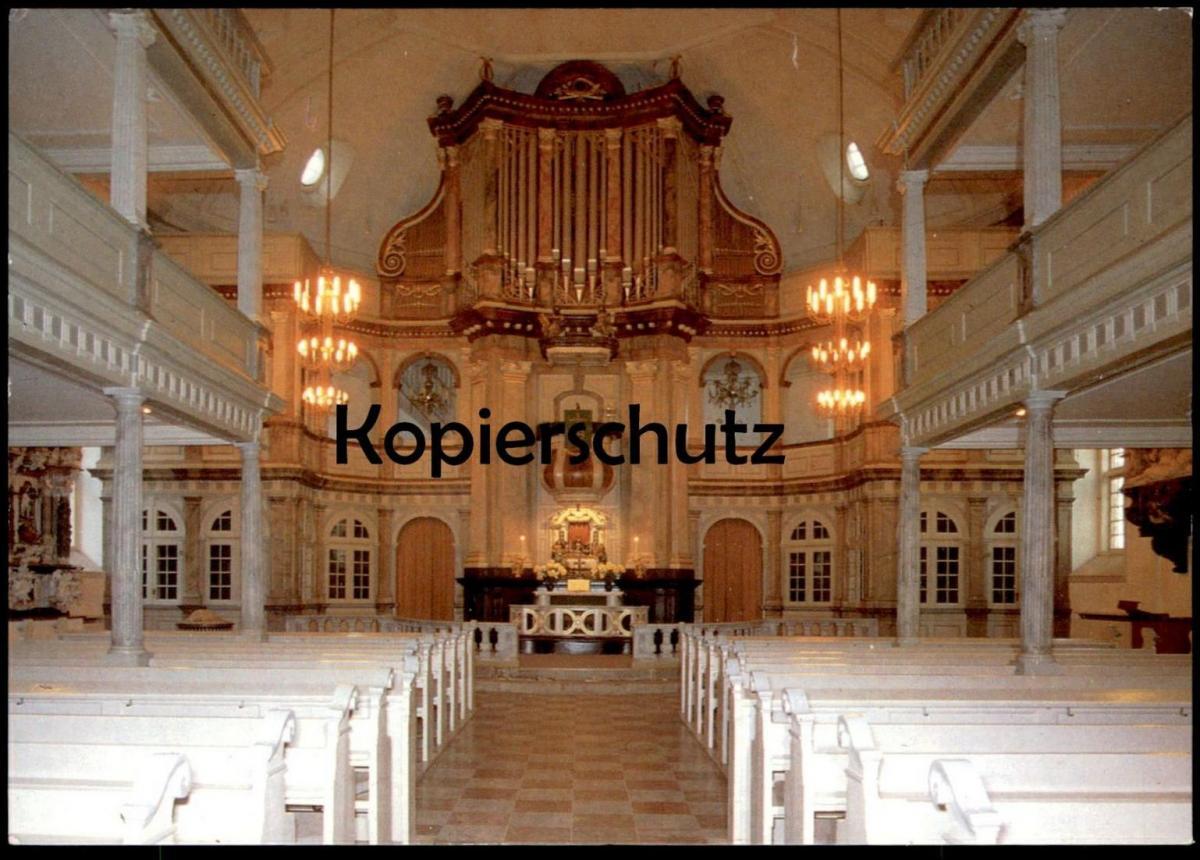POSTKARTE NIKOLAIKIRCHE KAPPELN AN DER SCHLEI ORGEL ALTAR autel interieur l´eglise orgue organ cpa postcard AK