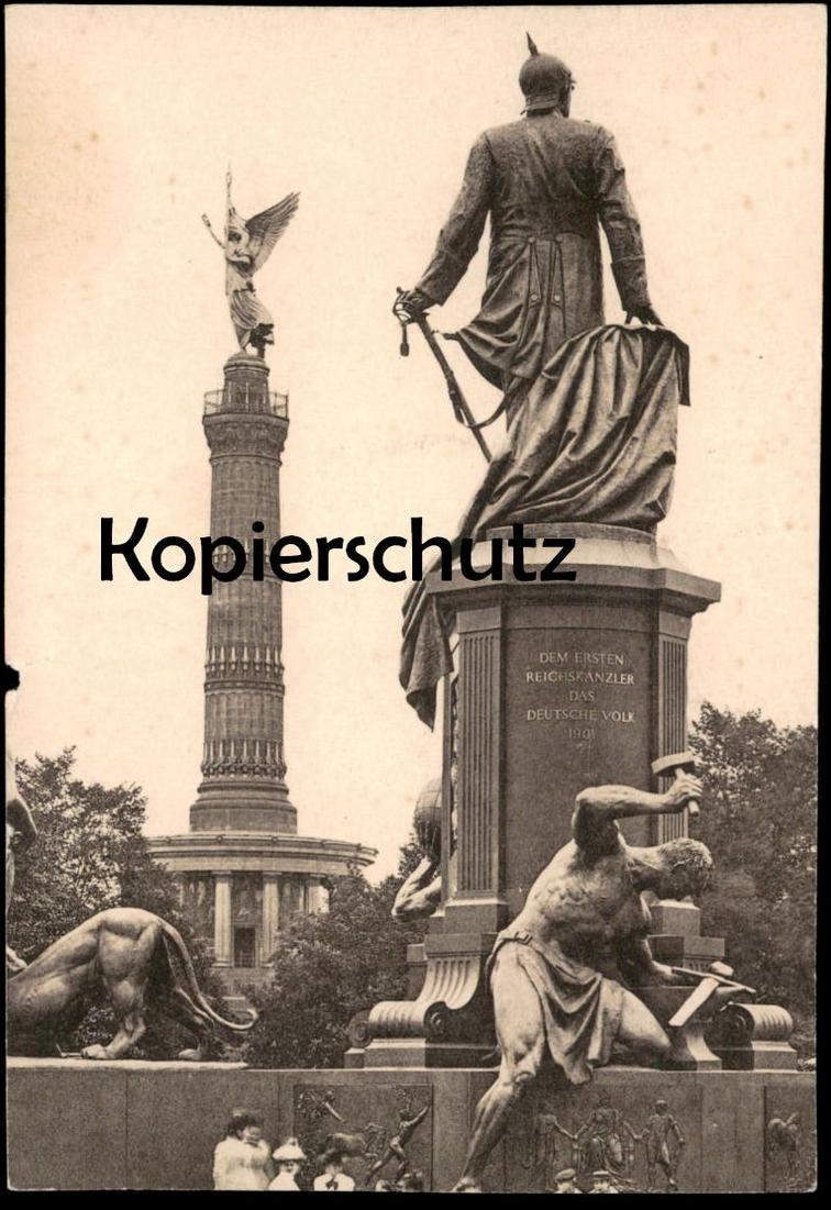 ÄLTERES FOTO PHOTO BERLIN BISMARCK-DENKMAL Monument postcard cpa Ansichtskarte AK