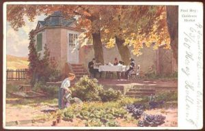 ALTE KÜNSTLER-POSTKARTE GOLDENER HERBST SIGN. PAUL HEY Maler Painter peintre autumn automne salad Salat cpa postcard AK
