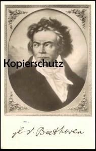 ALTE POSTKARTE LUDWIG V. BEETHOVEN Bonn Komponist Dichter pianist musician poet composer signature portrait postcard AK