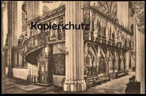 ALTE POSTKARTE LÜBECK Luebeck Lettner in der Marienkirche Kirche church église cpa postcard AK Ansichtskarte