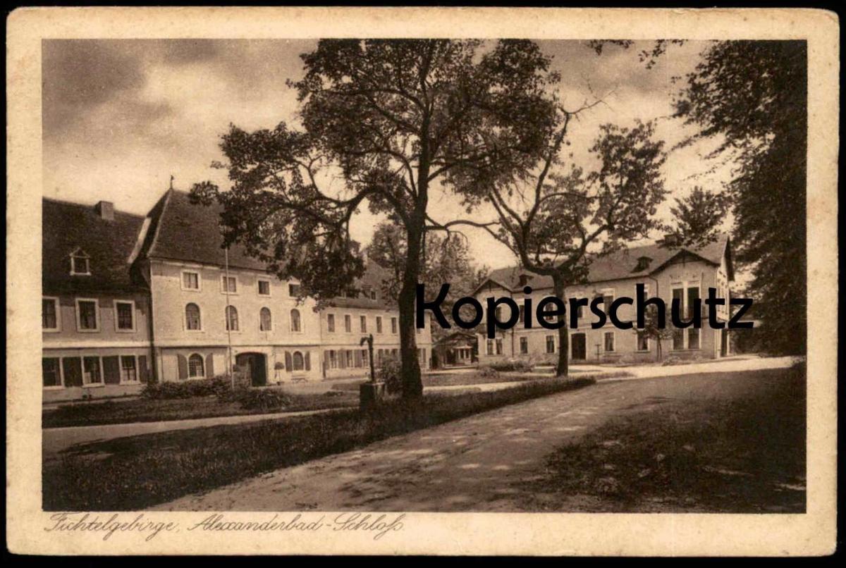 ALTE POSTKARTE ALEXANDERBAD Schloss bei Wunsiedel Fichtelgebirge Ansichtskarte AK cpa postcard
