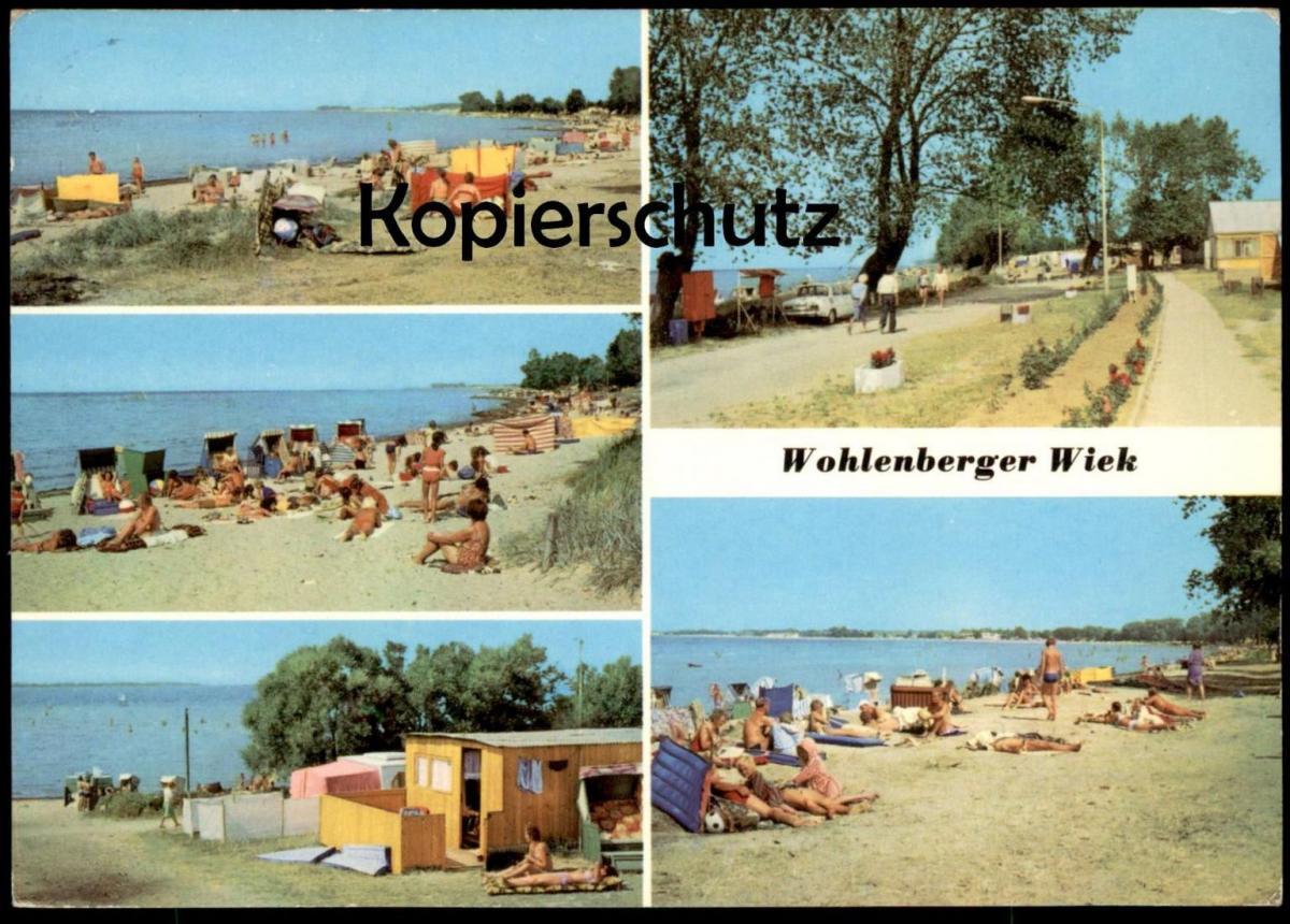 ÄLTERE POSTKARTE WOHLENBERGER WIEK Strand bei KLÜTZ GRAMKOW WISMAR beach plage cpa postcard AK Ansichtskarte